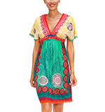 Desigual Soraya dress green