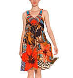 Desigual Selva dress orange