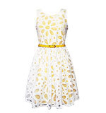 Yumi Daisy Cut-Out Prom Kleid gelb S-XL