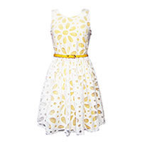 Yumi Daisy Cut-Out Prom dress yellow L-XL