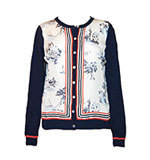 Nice Things Sailing Silk Cardigan blau