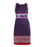 Nice Things Indian Portrait Kleid blau