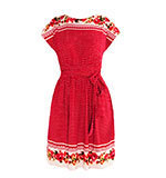 Yumi Rose dot dress red S-XL