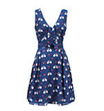 Yumi Bicycle Print Kleid blau