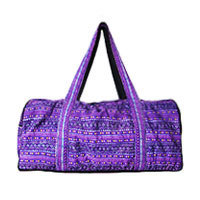 Aromdee Ethno weekender bag cross stitch purple XL