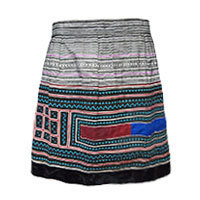 Aromdee Thian skirt velvet seam black S and M