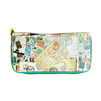 Stamp the world wallet turquoise