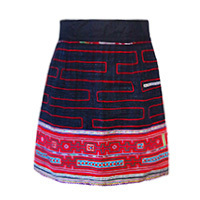 Aromdee Nittaya skirt embroidery blue M