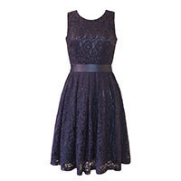 Fever London Daphne dress navy M-L