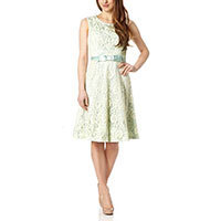 Fever London Atrani dress cream-aqua M/L