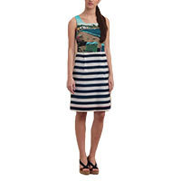 Nice Things Striped Capri Kleid blau Gr.34-36