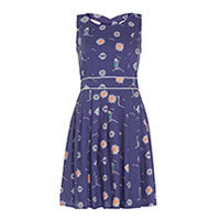 Yumi Compass and Lighthouse Kleid blau S/M
