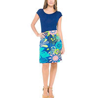 Surkana Trop dress azul blue XS/S