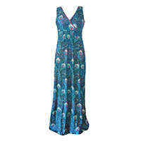 Fever London Arlington Peacock Maxi dress M