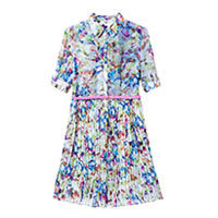 Watercolour Dream shirt dress multi S