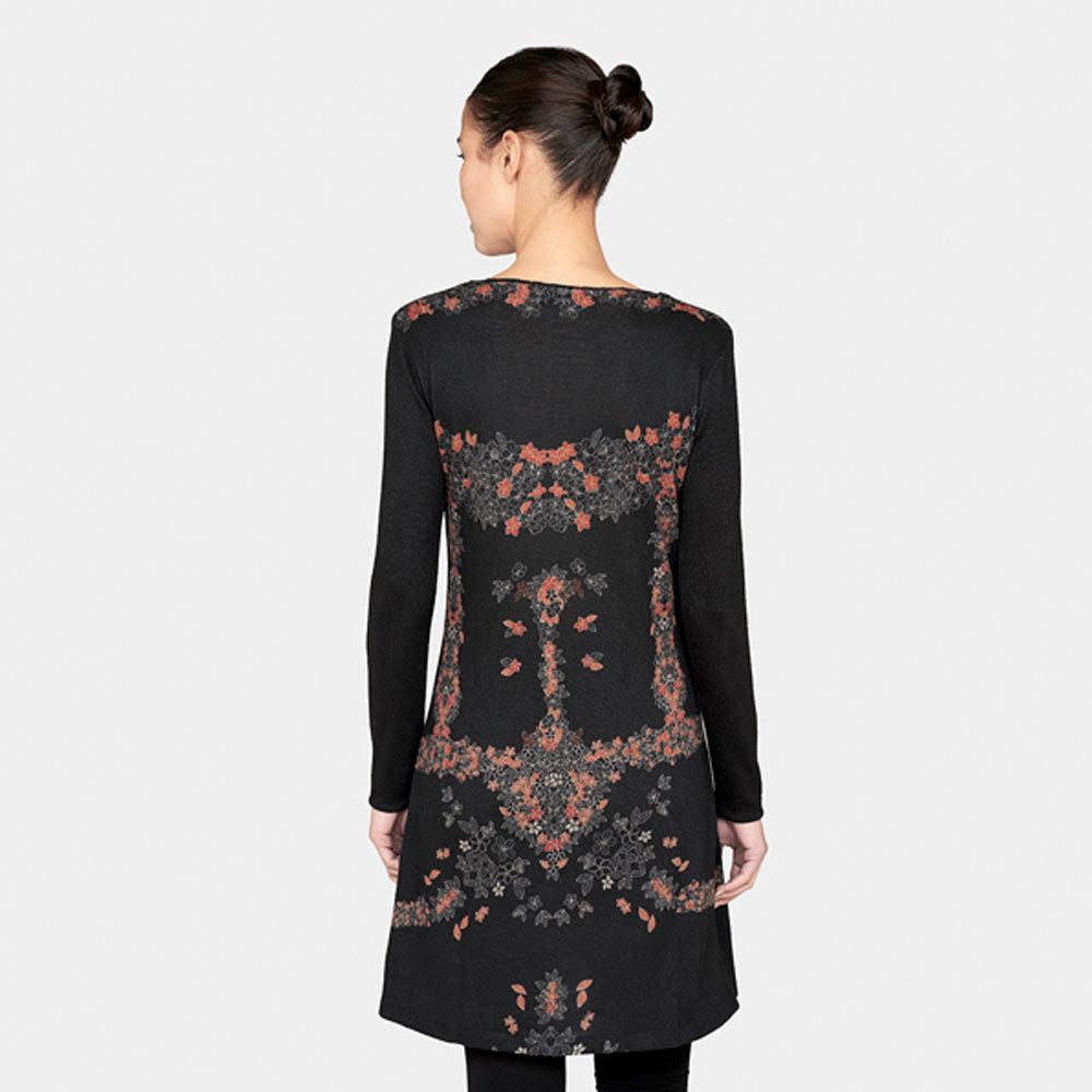 surkana wala kleid langarm schwarz l born2style fashion. Black Bedroom Furniture Sets. Home Design Ideas