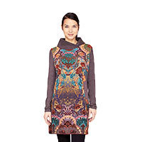 Surkana Gyac dress long sleeve purple S/M