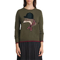 Nice Things Mr. Fox Pullover grün S/M