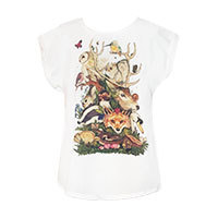 Vanilla Mousse Forest animal T-shirt white