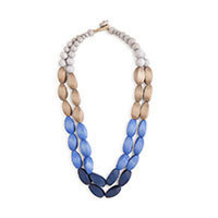 Nice Things Bolas Madera necklace blue
