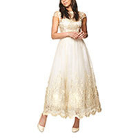 Chi Chi Alaia dress cream-gold M-XL