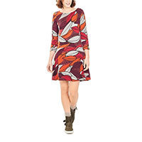 Surkana Opreya dress 3/4 sleeve red M-L