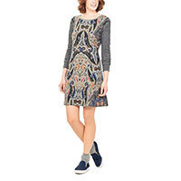 Surkana Mora dress long sleeve grau S