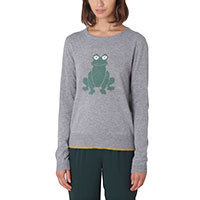 Nice Things Intarsia Frog jumper M-L