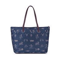 Nice Things Zodiac Print bag navy