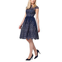 Chi Chi Aimee dress navy-silver XS or M