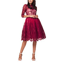 Chi Chi Aviana dress red-creme S or XL