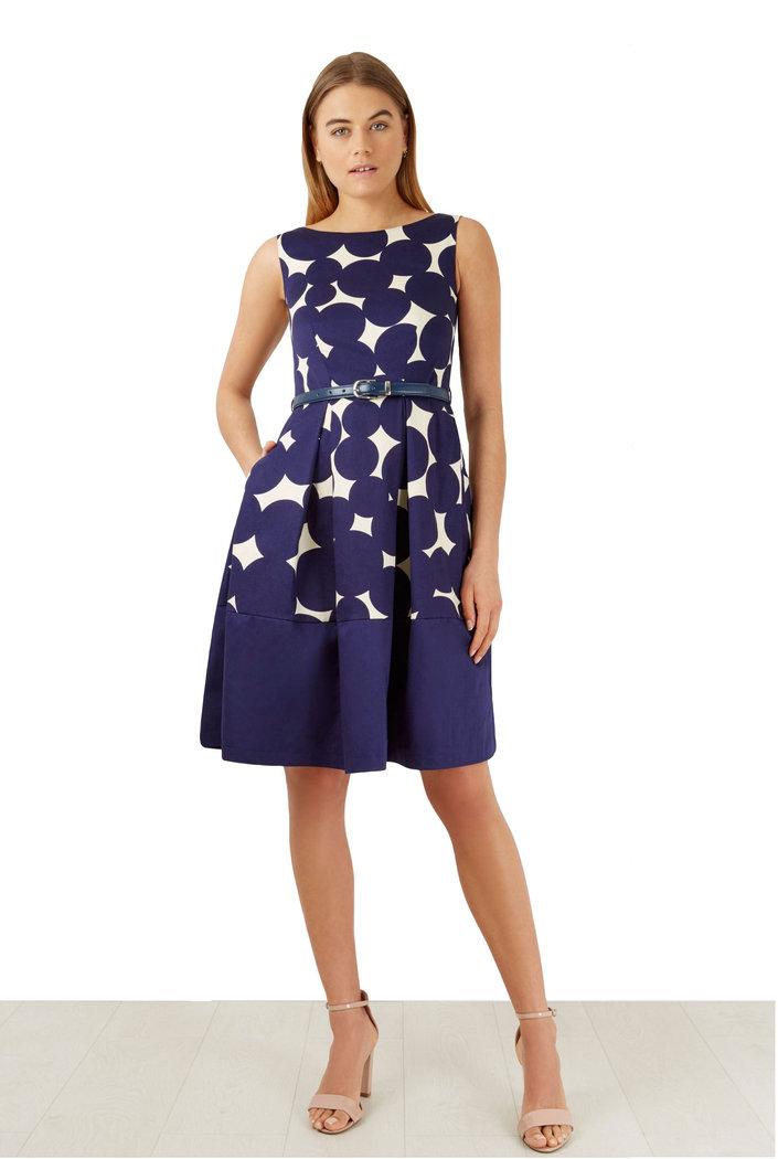 closet big polka kleid blau xs o m born2style fashion store. Black Bedroom Furniture Sets. Home Design Ideas