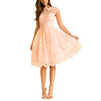 Chi Chi Mackenzie dress peach XS