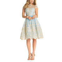 Chi Chi Sascha Kleid skyblue-gold L-XL