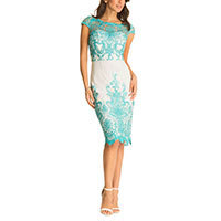 Chi Chi Pru shift dress turquoise S or L