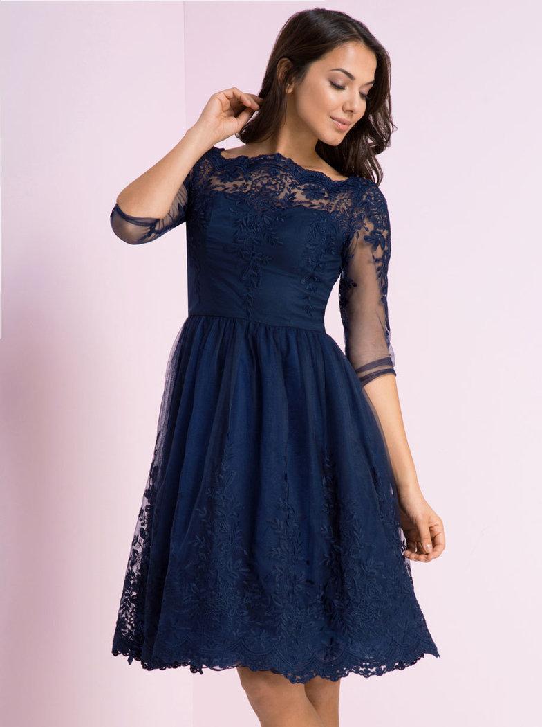 chi chi darin spitzenkleid blau born2style fashion store. Black Bedroom Furniture Sets. Home Design Ideas