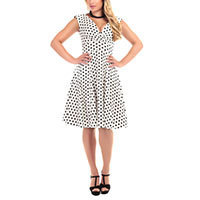 Collectif Pamela Polka Dot Doll Kleid
