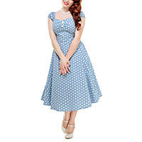 Collectif Dolores Vintage Polka Dot Doll Kleid S