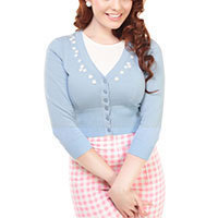 Collectif Jessica Daisy Cardigan Cardigan Bluebell Blue