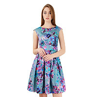 Closet Portobello Multi Floral dress grey XS-S
