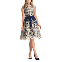 Chi Chi Yazzy dress navy-gold M
