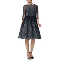 Chi Chi Lottie dress black-silver