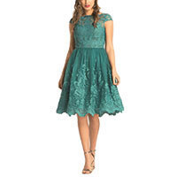 Chi Chi Laurel Kleid teal