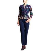 Ivko Jacquard Jacket with Pleats marine (72513) Gr.36
