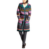 Ivko Long Jacket Goemetric anthrazit (72512) 38-44