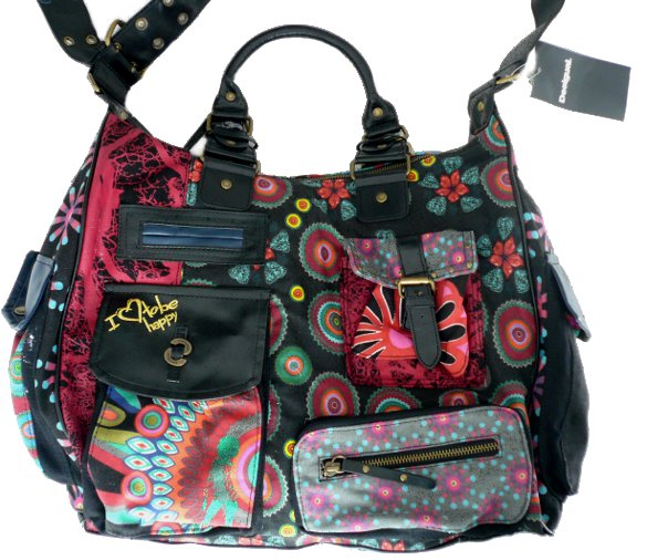 desigual bag camus shopper black born2style fashion store. Black Bedroom Furniture Sets. Home Design Ideas