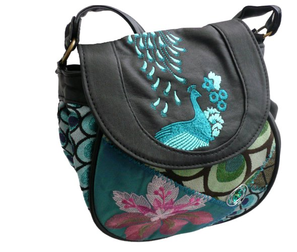 desigual bag marylion azul agata peacock born2style fashion store. Black Bedroom Furniture Sets. Home Design Ideas