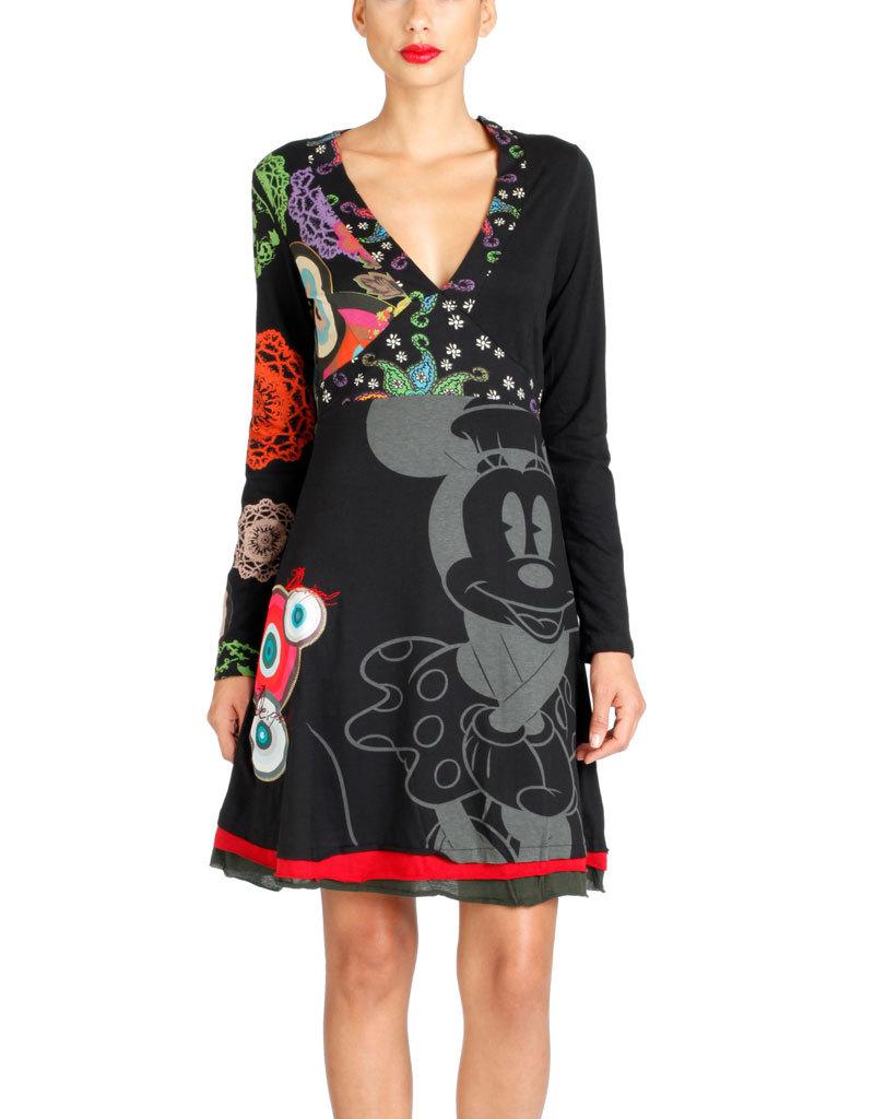 desigual panilla dress black born2style fashion store