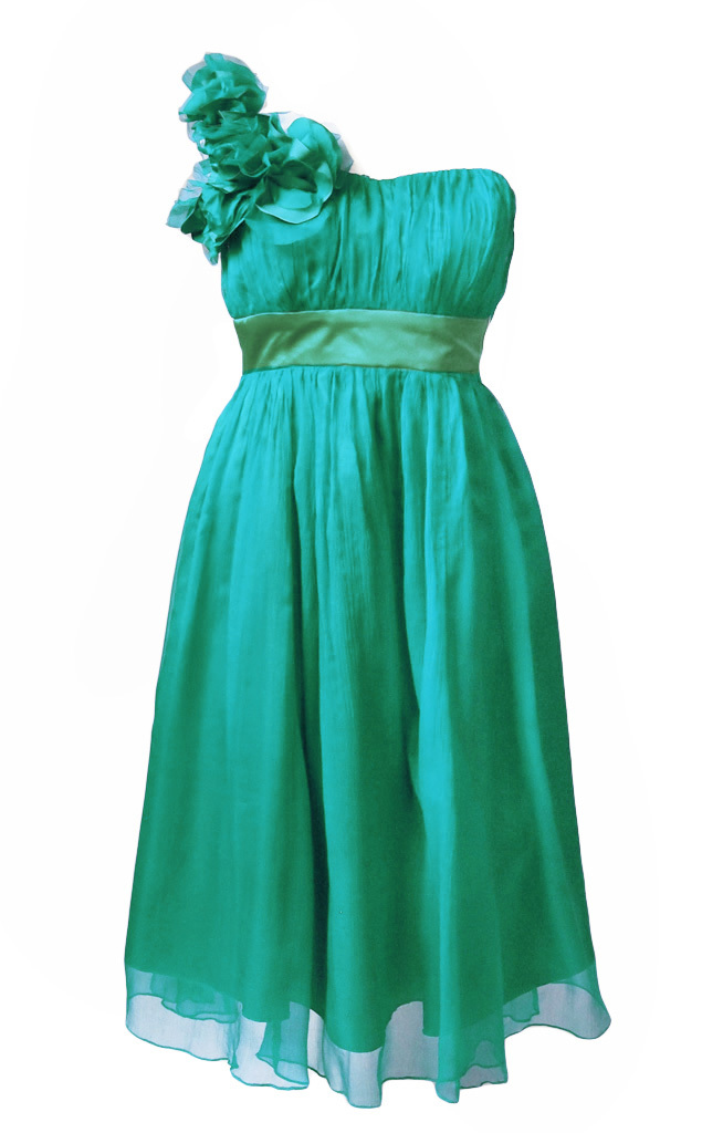Fever London Ivy Seiden Kleid mint grün Gr.38 - Born2Style Fashion Store