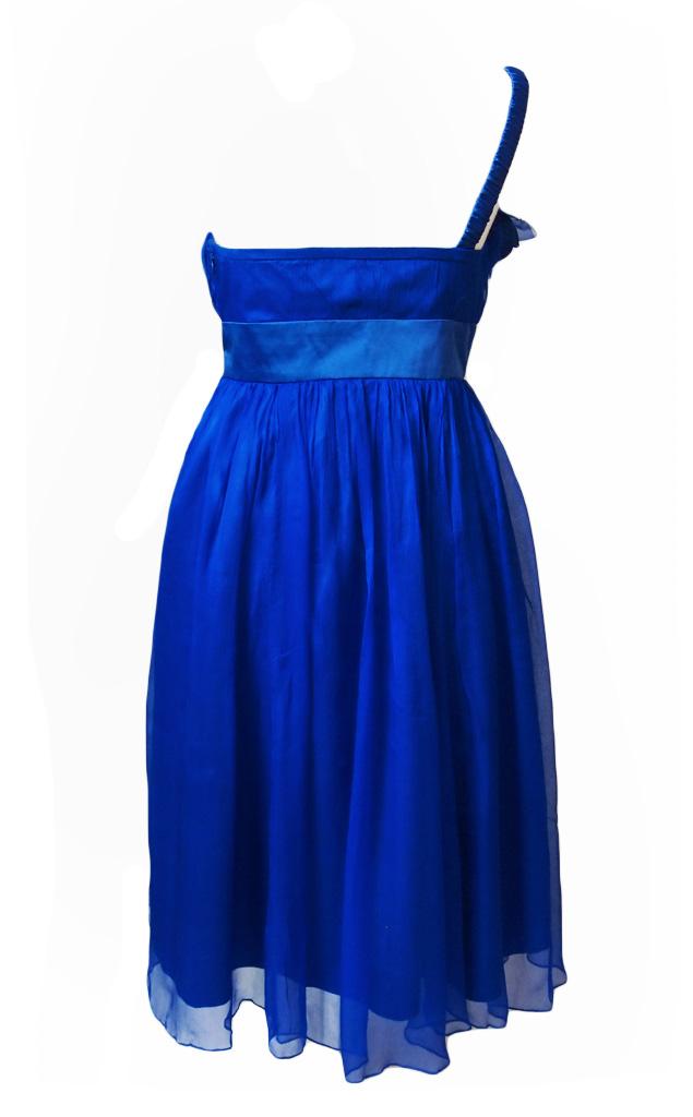 fever london ivy seiden kleid midnight blau l born2style fashion store. Black Bedroom Furniture Sets. Home Design Ideas